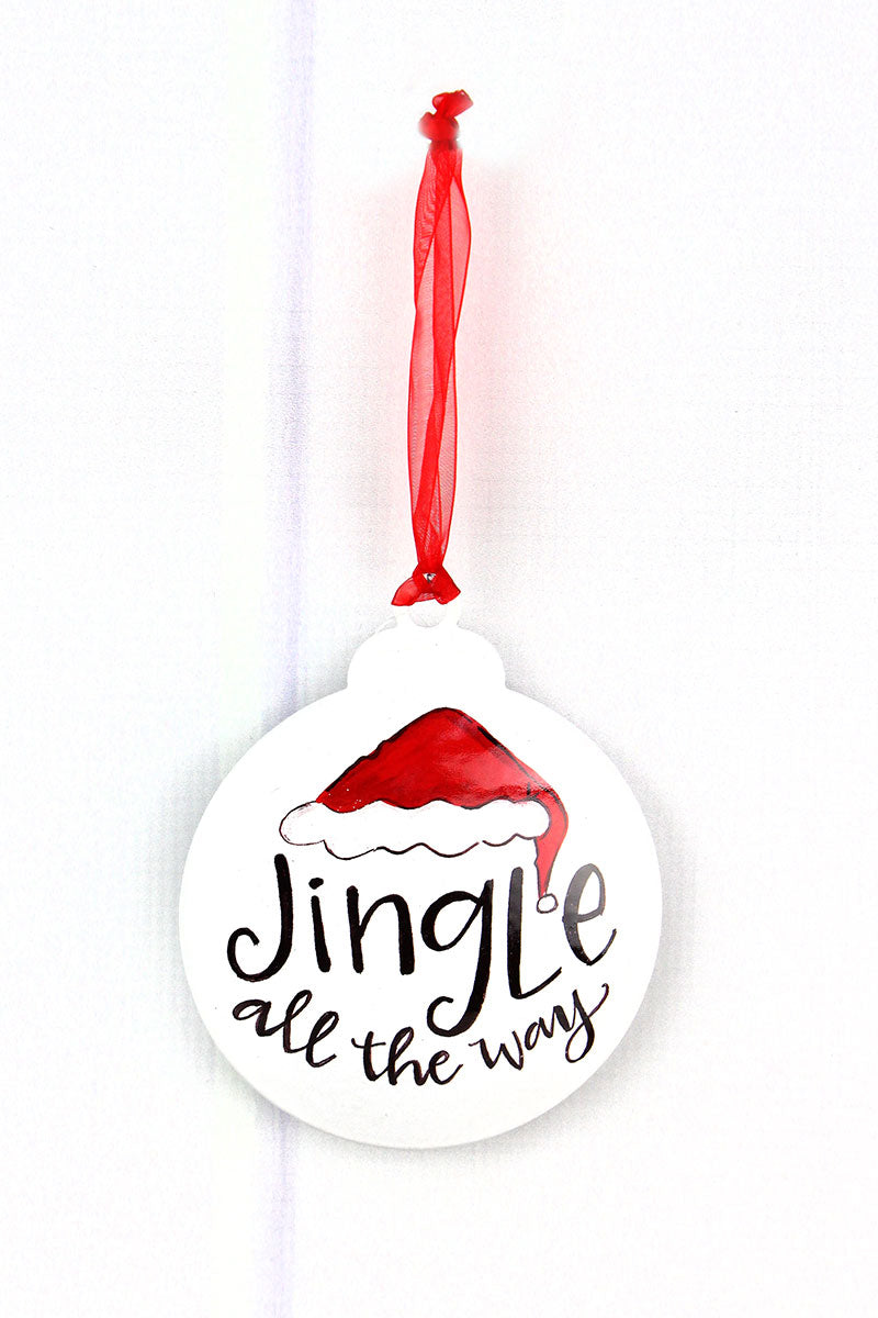 5 x 4.25 'Jingle All The Way' Ornament