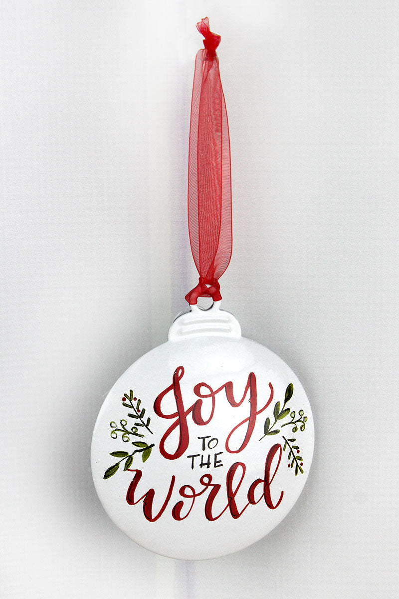 5 x 4.25 Joy To The World Ornament