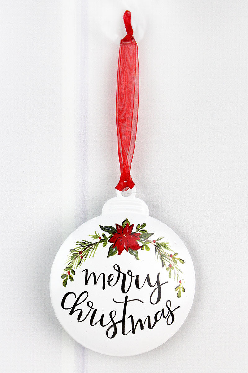 5 x 4.25 Merry Christmas Ornament
