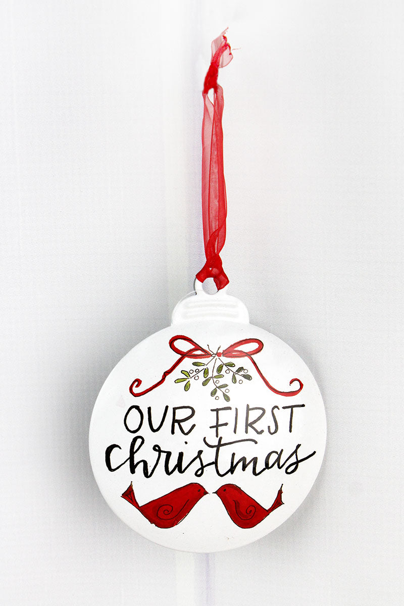 5 x 4.25 Our First Christmas Ornament