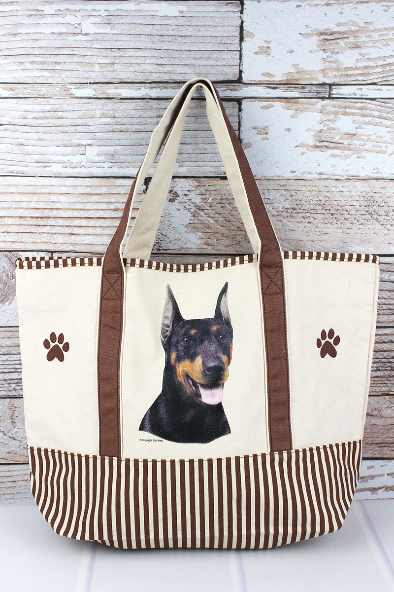 Doberman Canvas Tote Bag