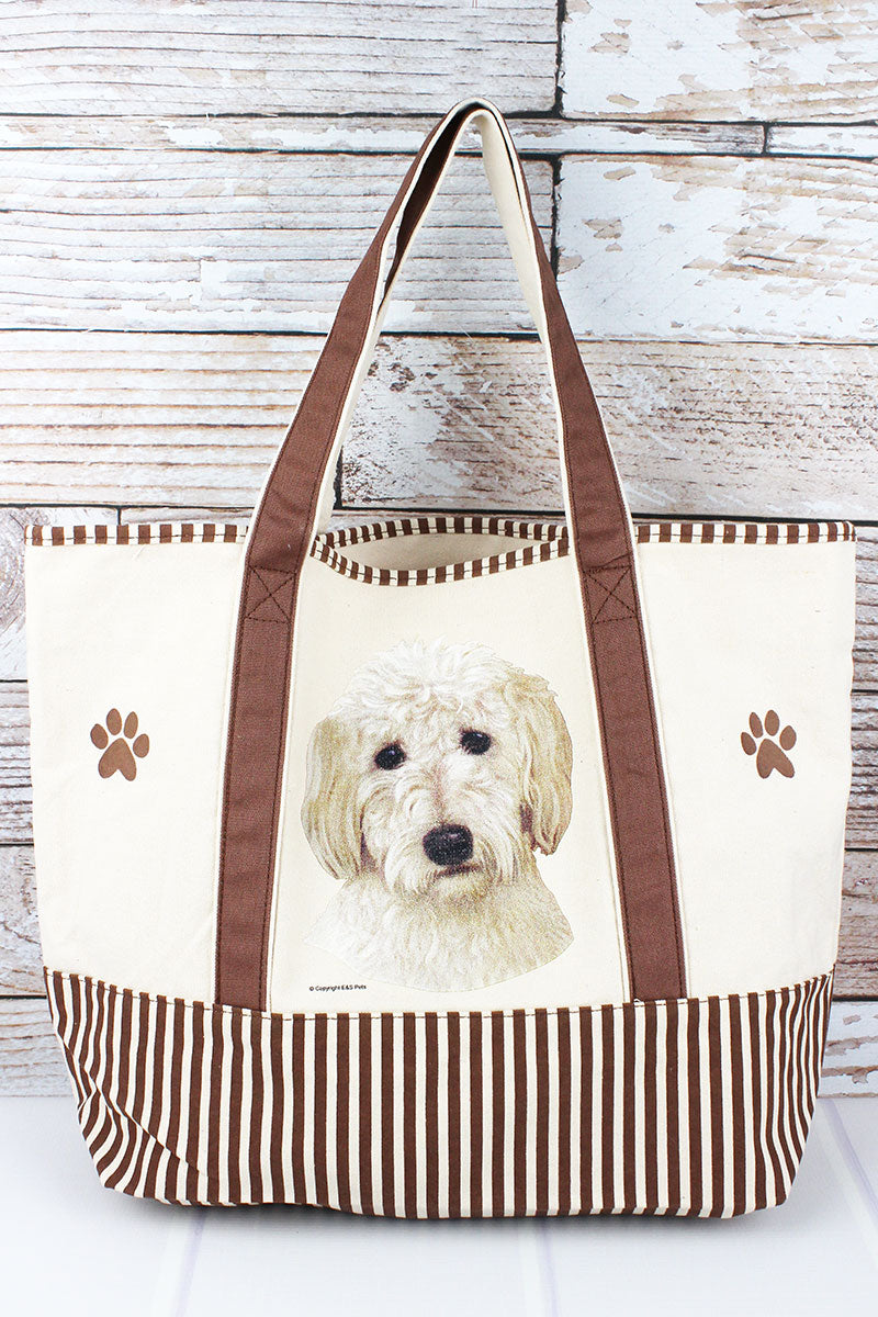 Goldendoodle Canvas Tote Bag