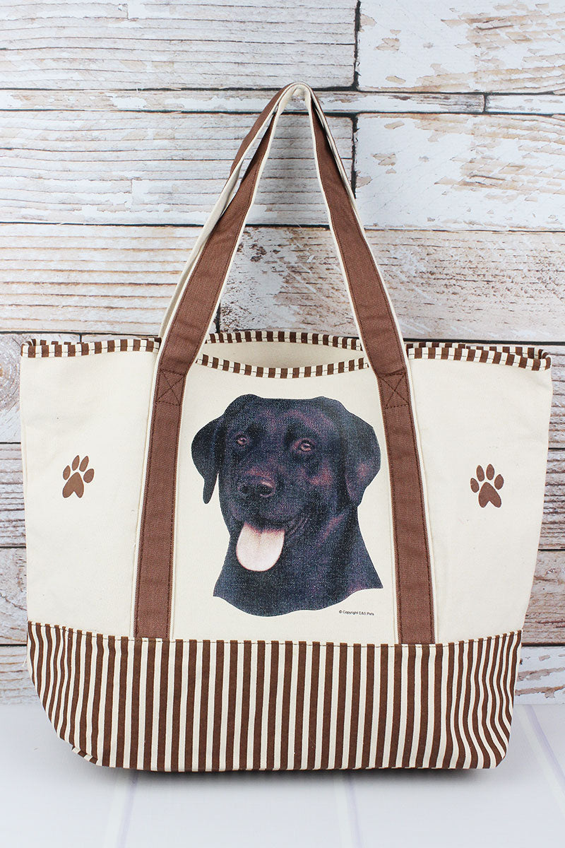 Black Labrador Canvas Tote Bag