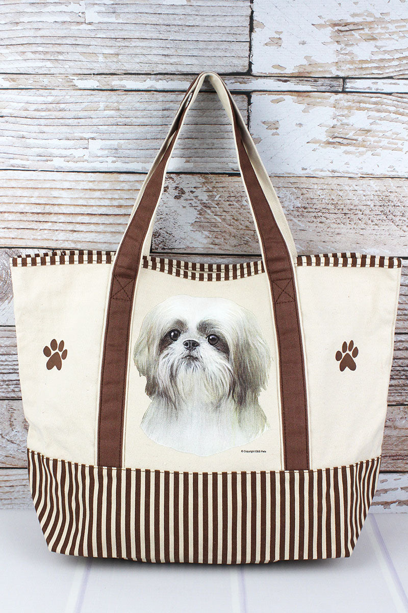 Shih Tzu Canvas Tote Bag