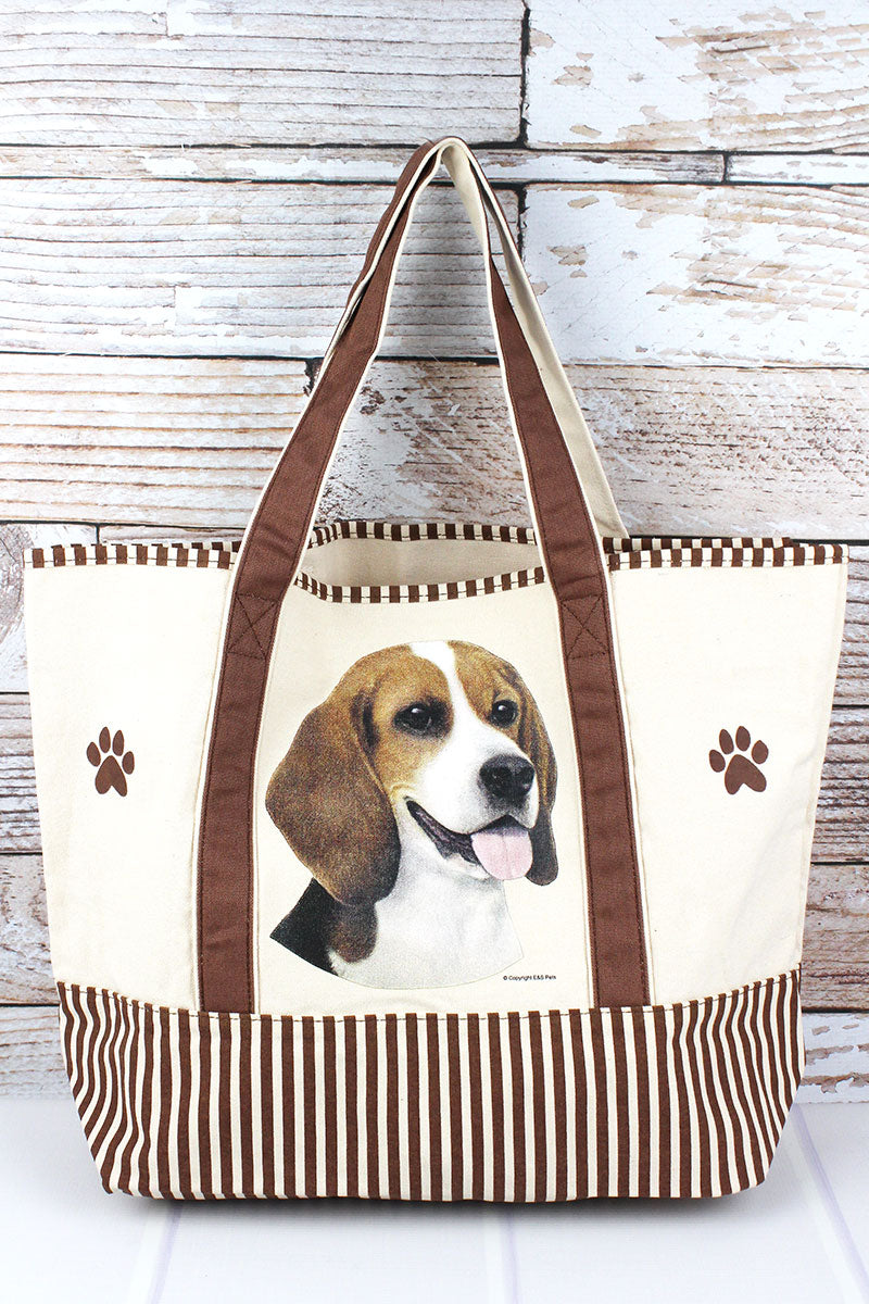 Beagle Canvas Tote Bag