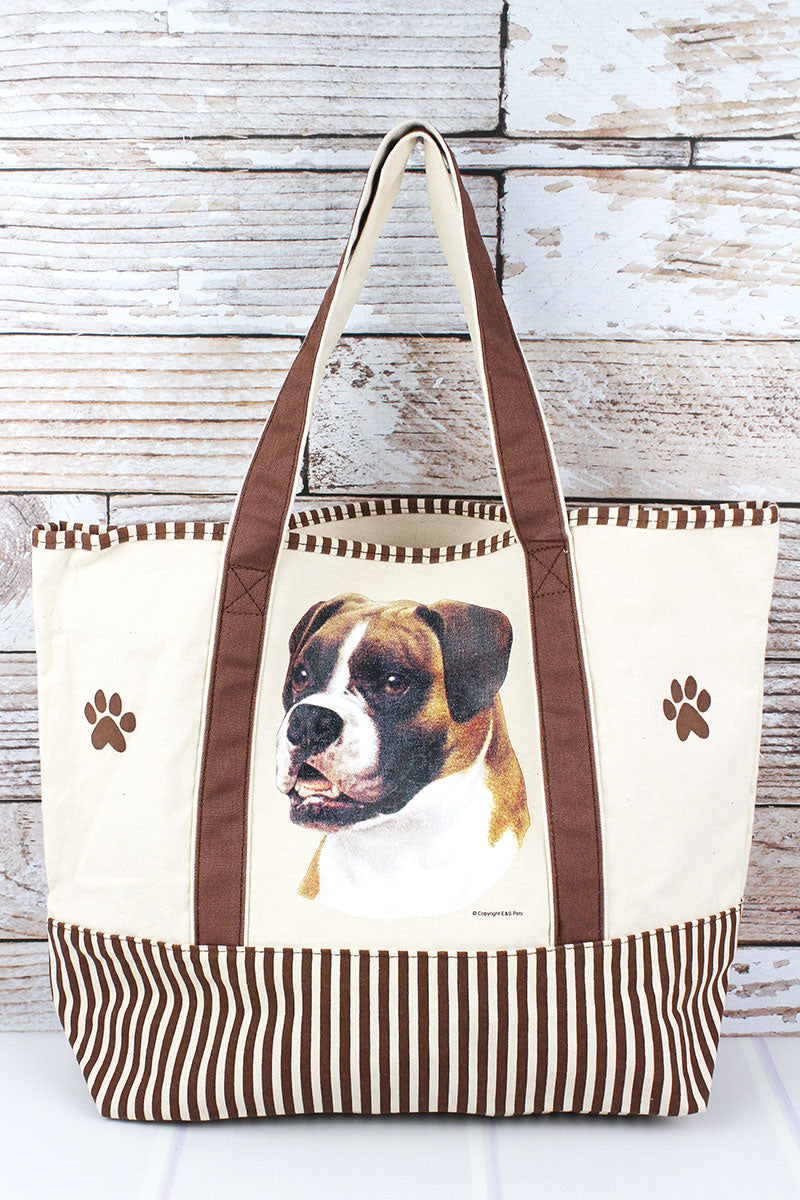 Boxer Canvas Tote Bag