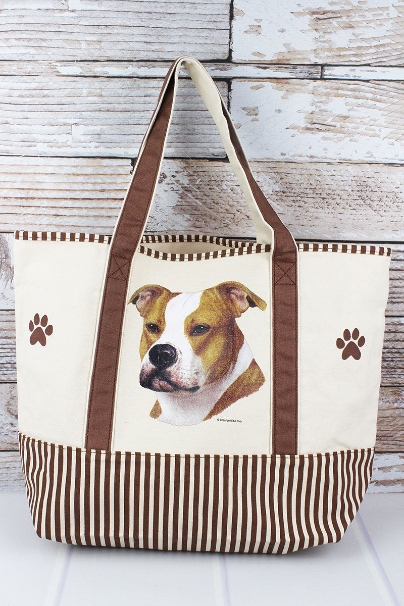 Pit Bull Canvas Tote Bag
