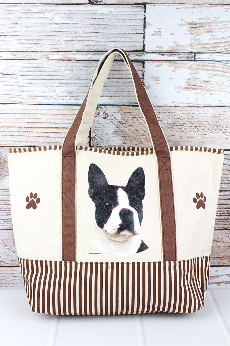 Boston Terrier Canvas Tote Bag