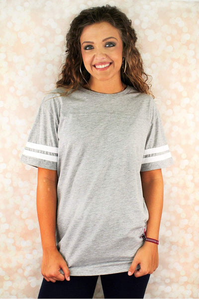 L.A.T. Adult Football Tee, Smoke/White #6937 *Personalize It - Wholesale Accessory Market