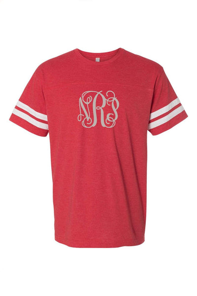 L.A.T. Adult Varsity Tee, Red/White #6937 *Personalize It ()