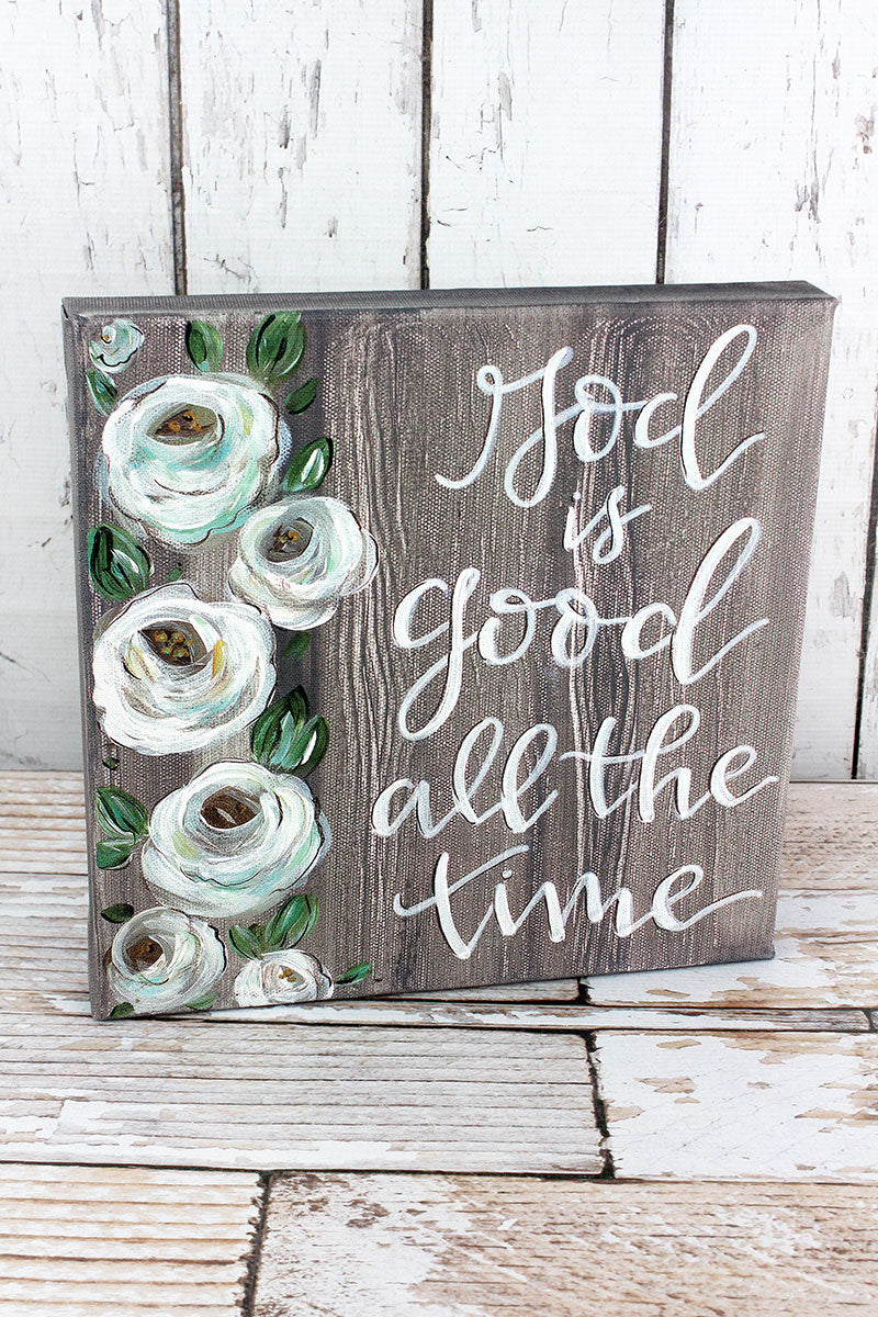 12 x 12 'God is Good' Canvas Sign