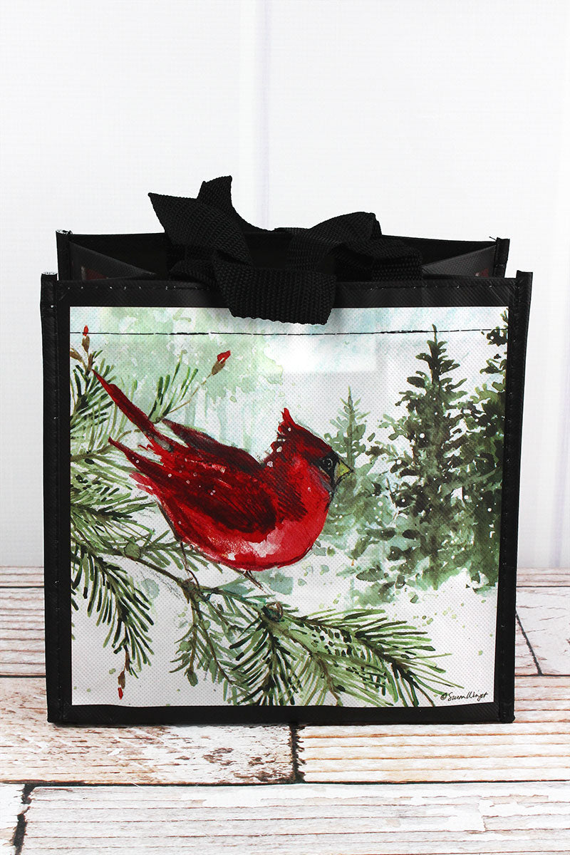 Winter Cardinal Small Gift Tote