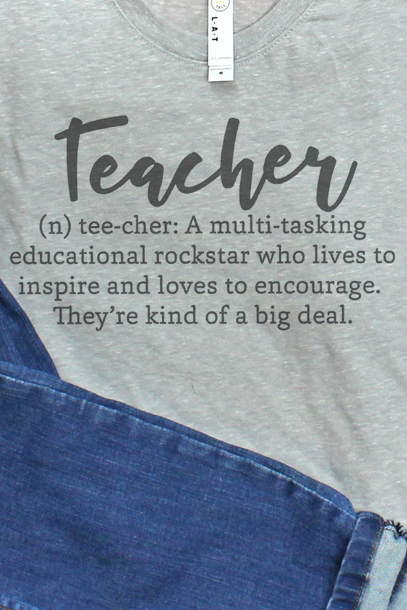 Teacher Definition Melange Jersey Tee