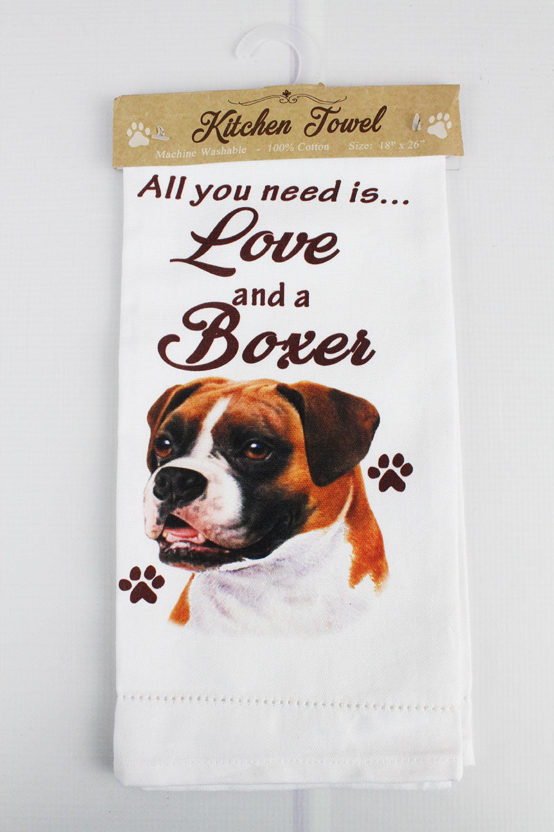 Boxer 'All You Need Is Love' Kitchen Towel
