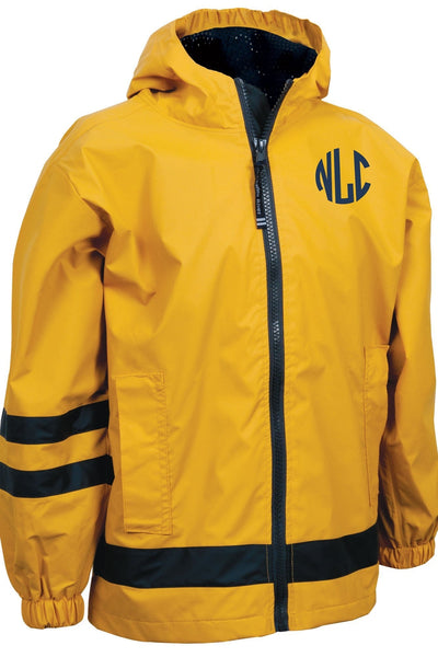 Charles River Children's New Englander Yellow Rain Jacket #7099 *Customizable! (Wholesale Pricing N/A.. PLEASE ALLOW 3-5 BUSINESS DAYS.. EXPEDITED SHIPPING N/A) - Wholesale Accessory Market