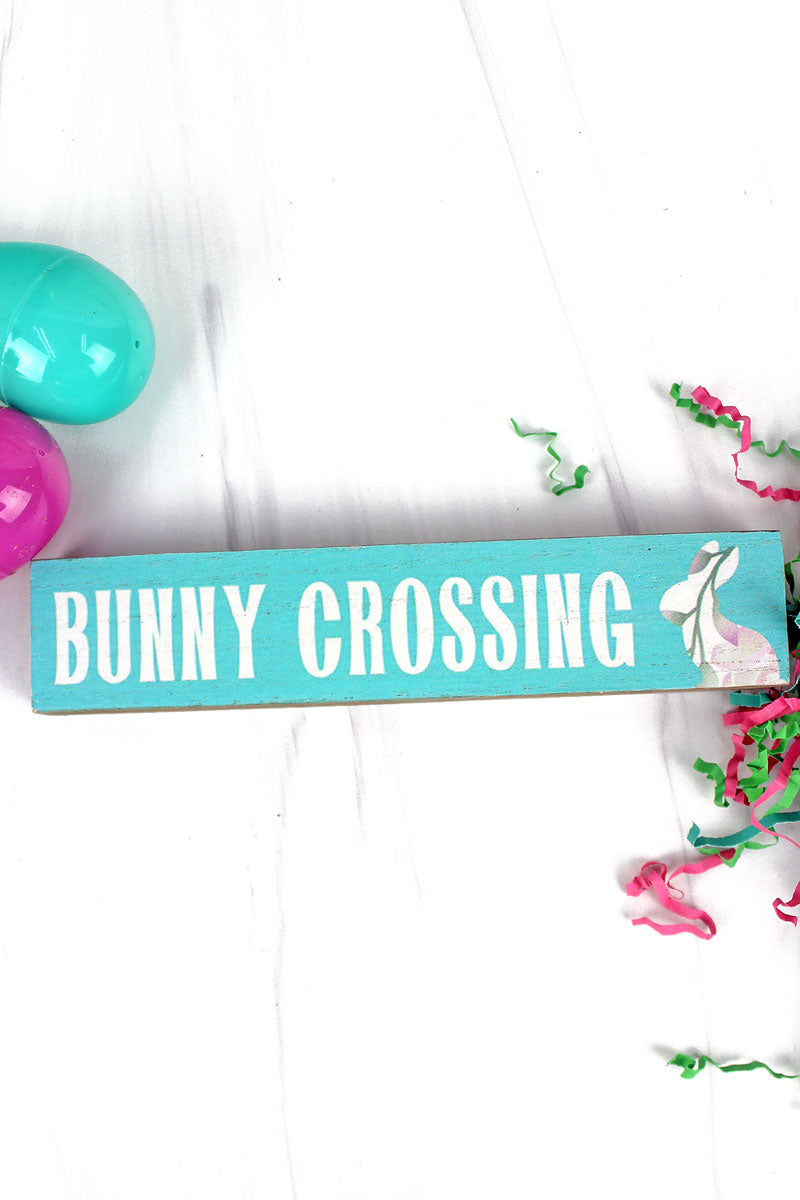 1.5 x 7.25 'Bunny Crossing' Wood Tabletop Block