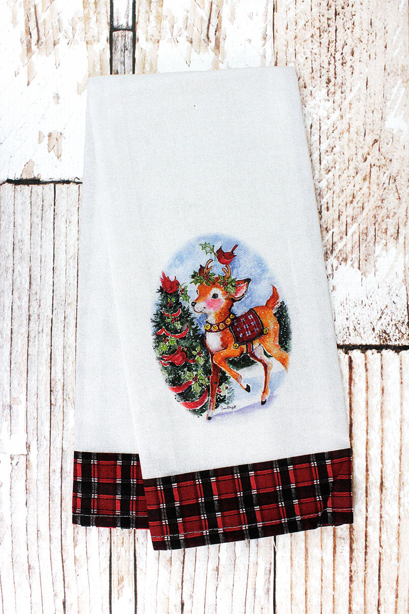 Christmas Reindeer Tea Towel