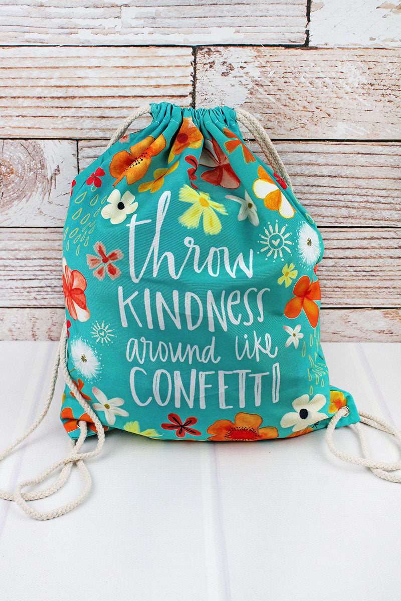 Throw Kindness Around Drawstring Backpack