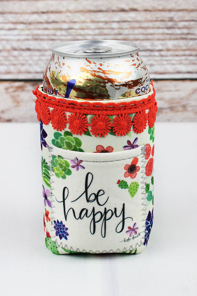 Be Happy Pocket Drink Sleeve