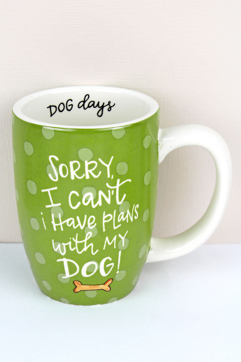 Plans With My Dog Simply Sassy Ceramic Mug