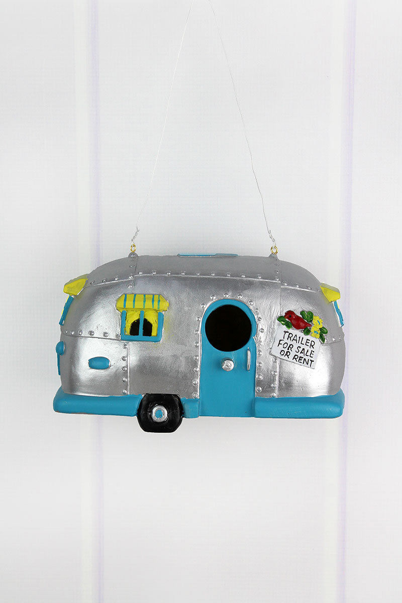 5.5 x 8.75 Resin Airstream Camper Birdhouse
