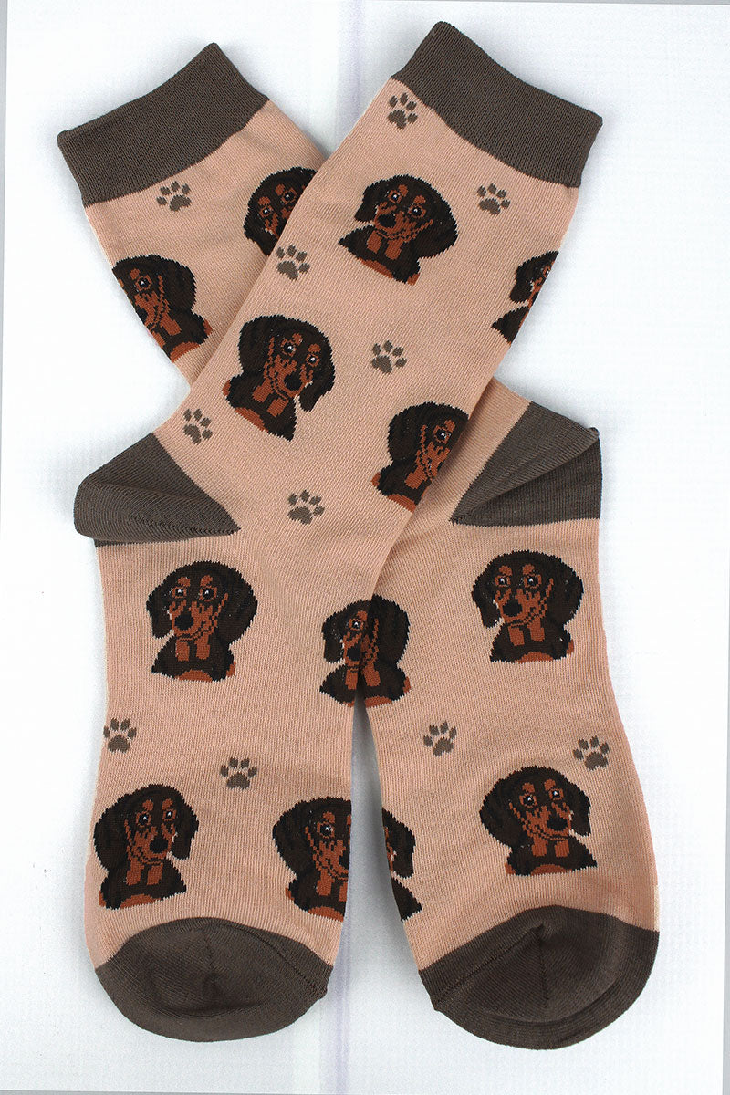 Black Dachshund Socks