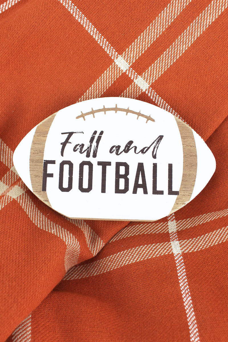 3 x 5 'Fall And Football' Wood Tabletop Football
