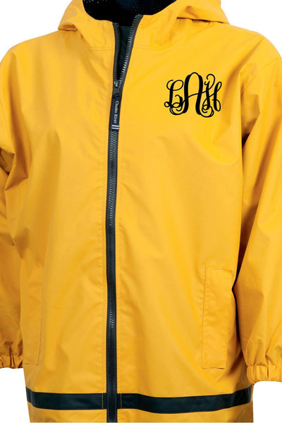 Charles River Youth New Englander Yellow Rain Jacket *Customizable! (Wholesale Pricing N/A)