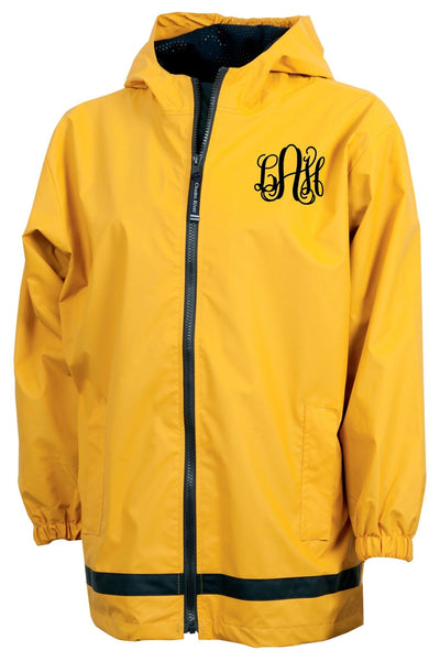 Charles River Youth New Englander Yellow Rain Jacket #8099 *Customizable! (Wholesale Pricing N/A.. PLEASE ALLOW 3-5 BUSINESS DAYS.. EXPEDITED SHIPPING N/A) - Wholesale Accessory Market