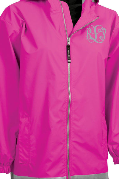 Charles River Youth New Englander Hot Pink Rain Jacket *Customizable! (Wholesale Pricing N/A)