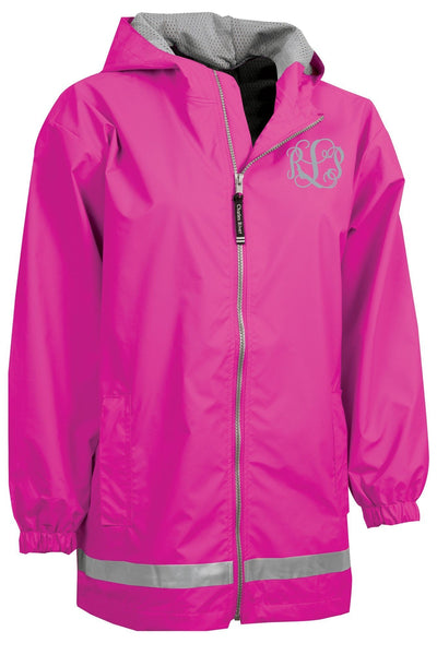 Charles River Youth New Englander Hot Pink Rain Jacket #8099 *Customizable! (Wholesale Pricing N/A.. PLEASE ALLOW 3-5 BUSINESS DAYS.. EXPEDITED SHIPPING N/A) - Wholesale Accessory Market