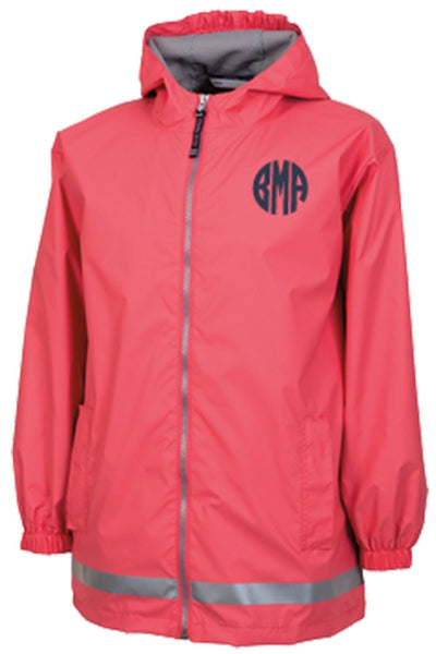 Charles River Youth New Englander Coral Rain Jacket *Customizable! (Wholesale Pricing N/A)