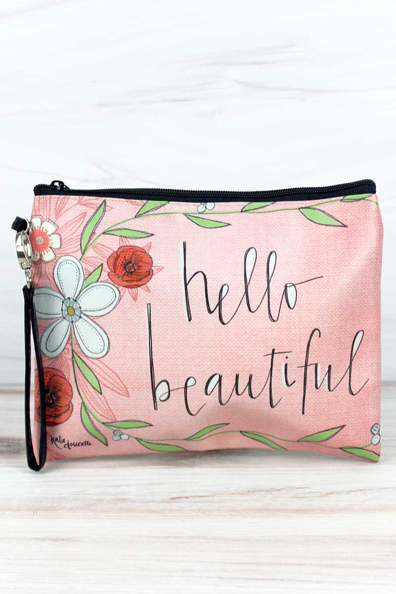 Hello Beautiful Makeup Bag