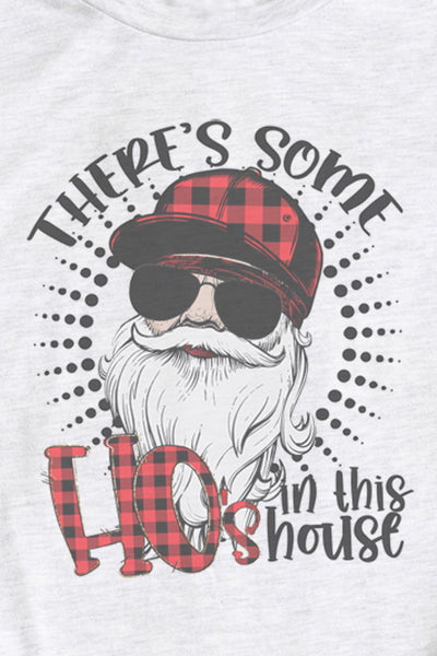 Santa There's Some Ho's In This House DryBlend Adult Long Sleeve Tee