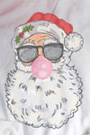 Vintage Bubblegum Santa DryBlend Adult Long Sleeve Tee