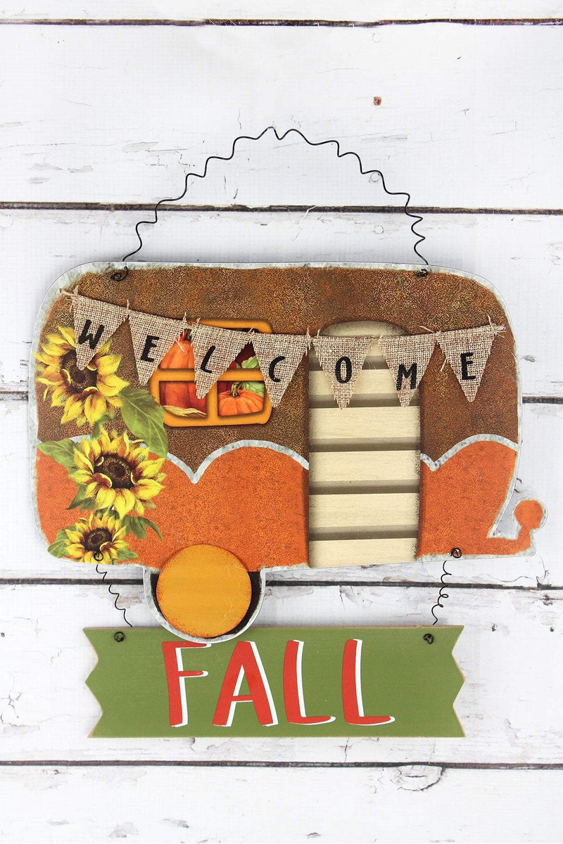 12.5 x 13.5 'Welcome Fall' Camper Wall Hanging