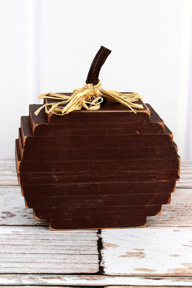 7 x 6.25 Stacked Wood Pumpkin Tabletop Decor