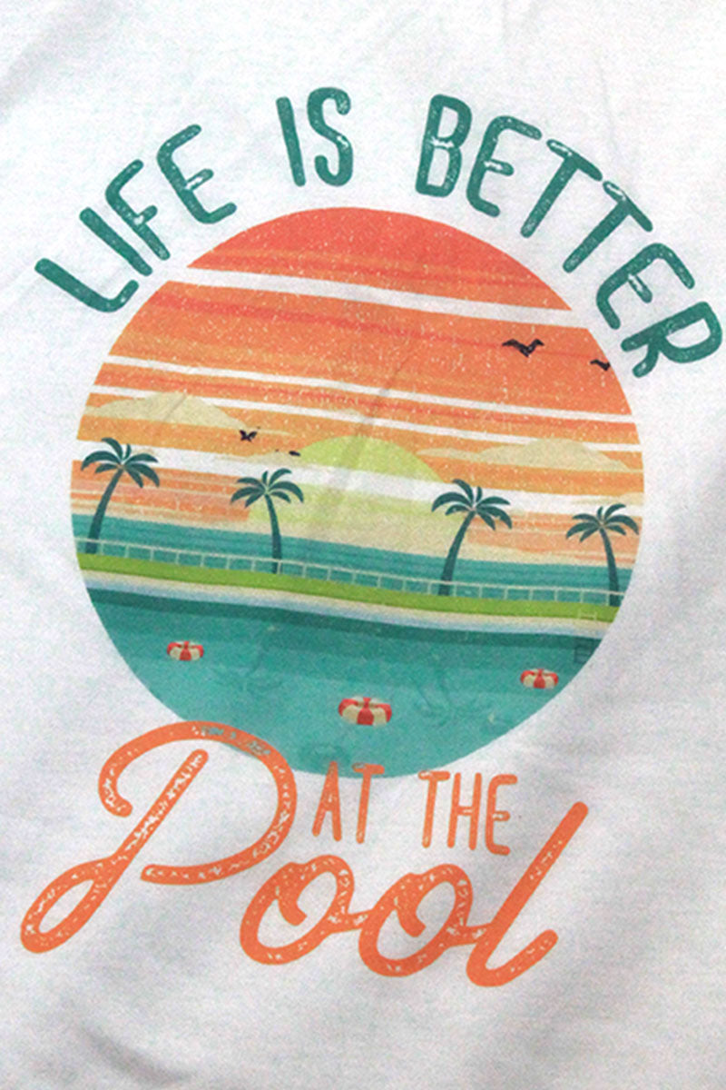 Life Is Better At The Pool Flowy Racerback Tank