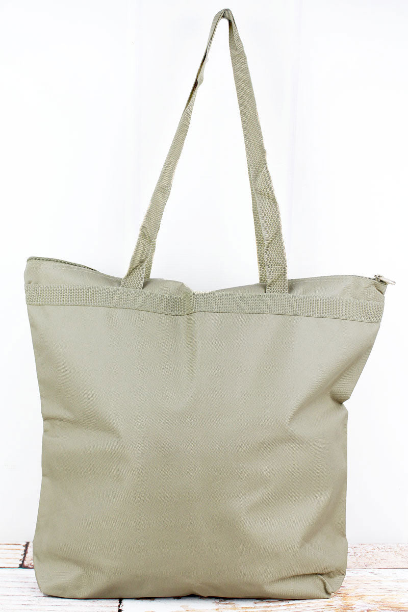 Liberty Bags Light Tan Large Zipper Tote