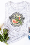 Watermelon Crawl Women's Flowy Scoop Muscle Tank