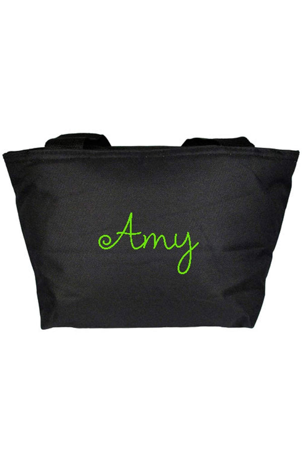 Black Insulated Lunch Bag 8808 Black Wholesale