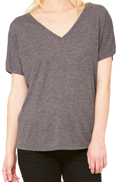Bella+Canvas Women's Slouchy V-Neck Tee *Choose Your Color