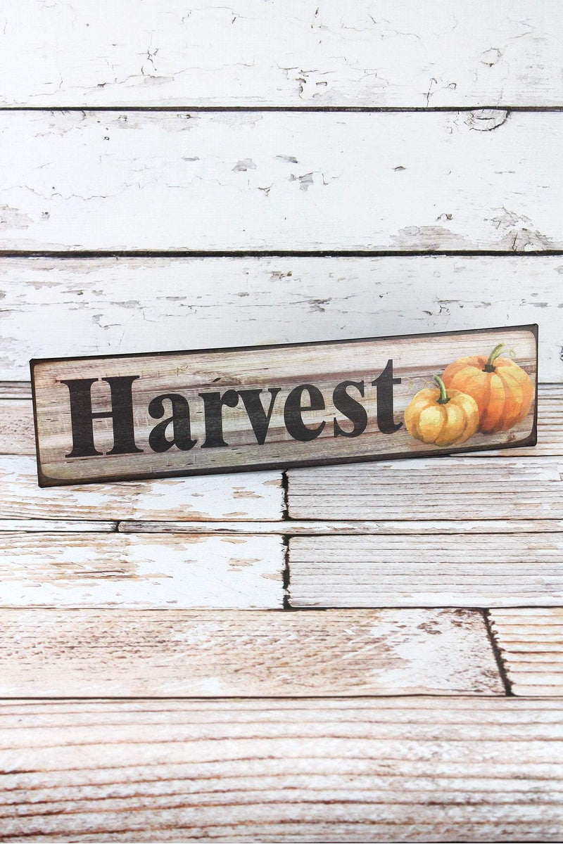 4 x 15.75 'Harvest' Metal Wall Sign