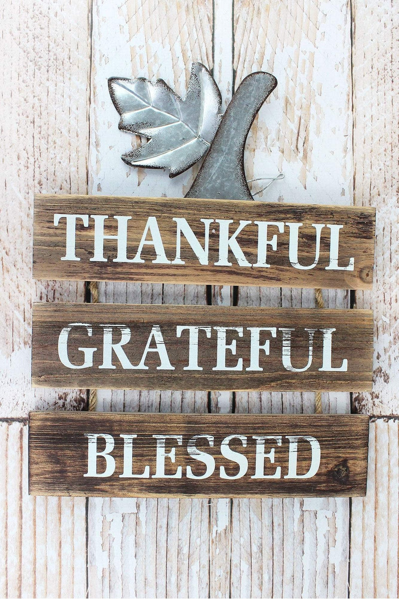 17 x 11.75 'Thankful Grateful Blessed' Wall Hanging