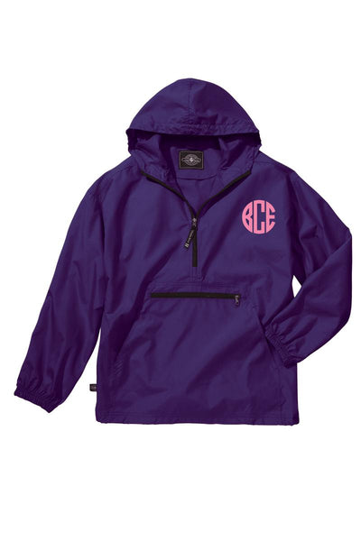 Charles River Youth Lightweight Rain Pullover, Purple *Customizable! (Wholesale Pricing N/A)