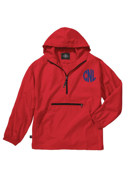 Charles River Youth Lightweight Rain Pullover, Red *Customizable! (Wholesale Pricing N/A)