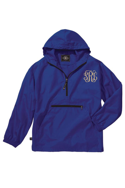 Charles River Youth Lightweight Rain Pullover, Royal *Customizable! (Wholesale Pricing N/A)