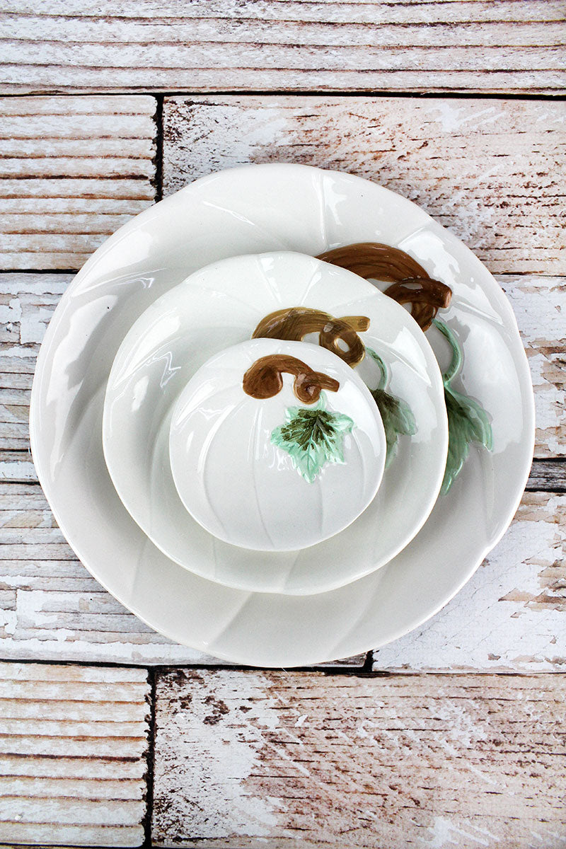3 Piece Ceramic Fall Plate Set