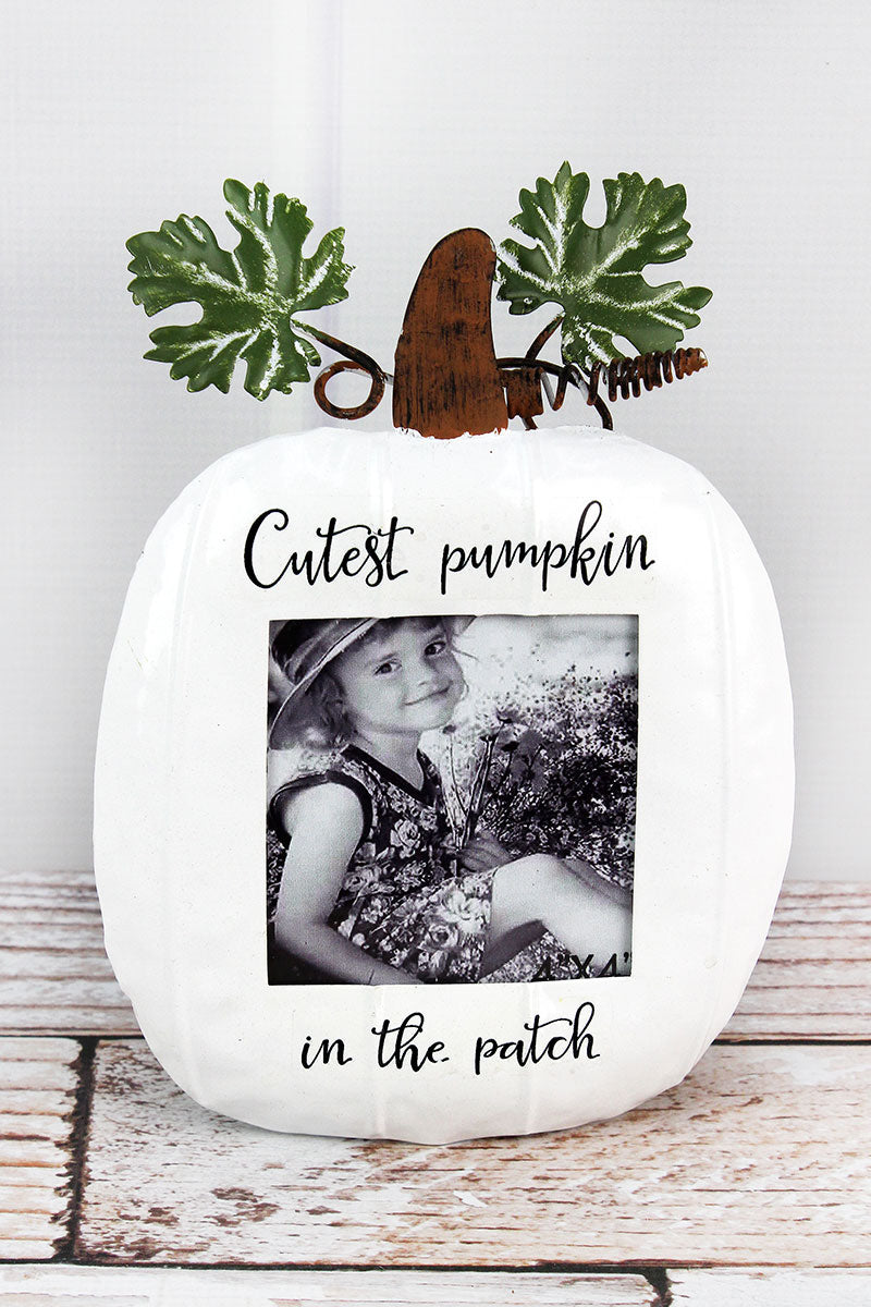 9.25 x 6.5 'Cutest Pumpkin In The Patch' Metal Photo Frame