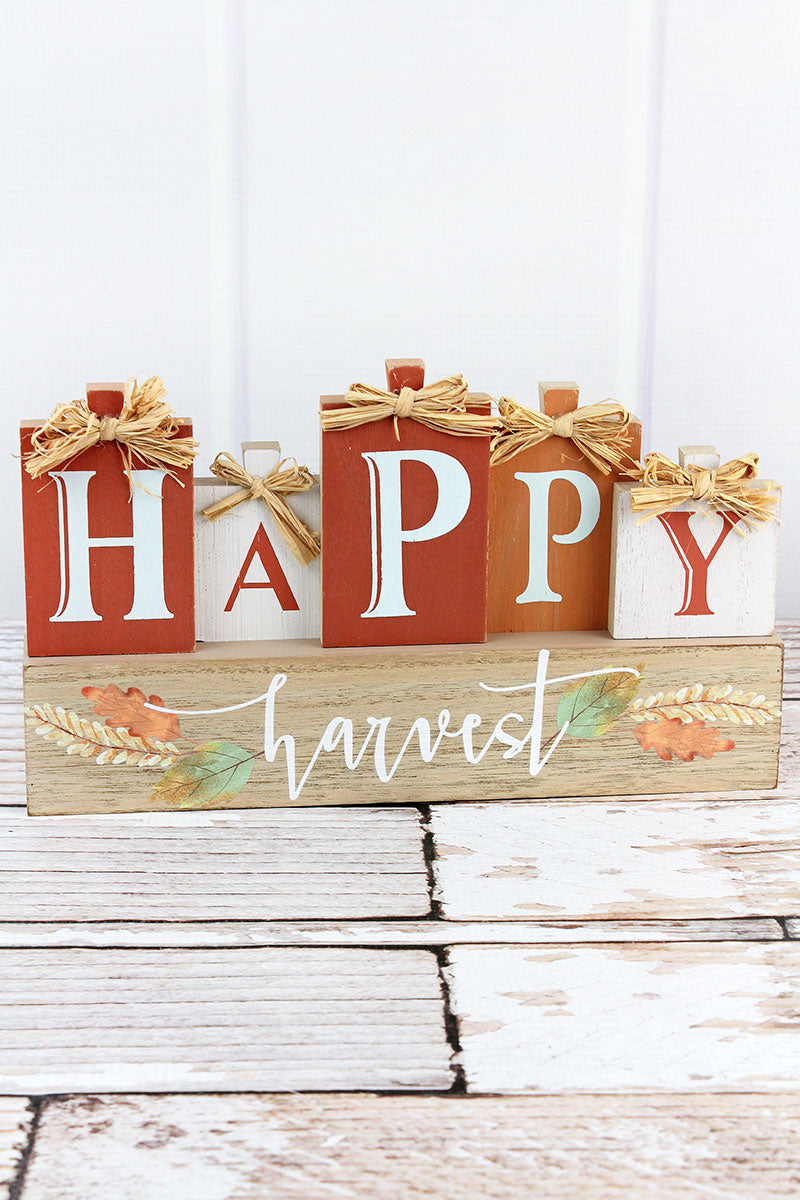 7 x 12 'Happy Harvest' Wood Tabletop Decor